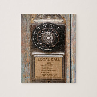Antique phone rotary dial pay telephone booth jigsaw puzzle