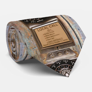 Antique phone rotary dial pay telephone booth tie