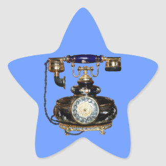 Antique Phone Star Sticker
