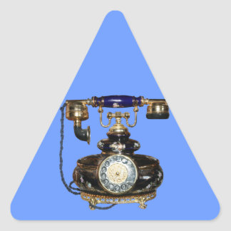 Antique Phone Triangle Sticker