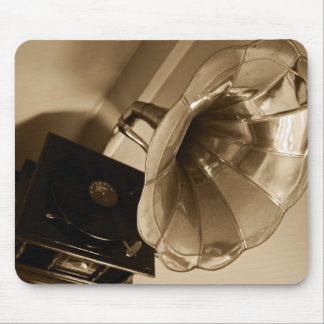 Antique Phonograph Gramophone Gifts Music Lovers Mouse Pad