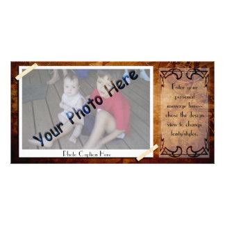 Antique Photo Frame Photo Card