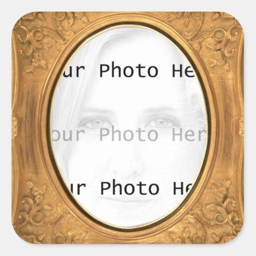 Antique Photo Frame Square Sticker