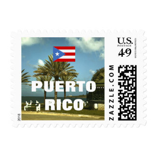 Antique Photo: Puerto Rico Postage Stamp