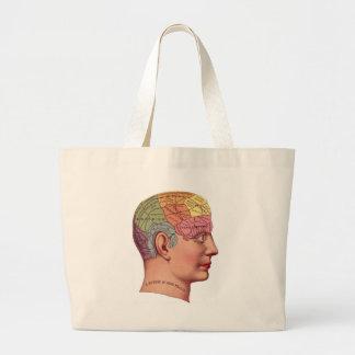 Antique Phrenology head Mind Brain Chart Jumbo Tote Bag