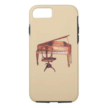 fabricatedframes antique piano and chair bench iPhone case