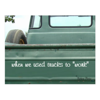 Antique Pickup Truck Postcard #1- customize