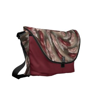 Antique Pink and Red Roses Abstract Messenger Bag