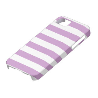 Antique Pink and White Stripes Pattern iPhone SE/5/5s Case