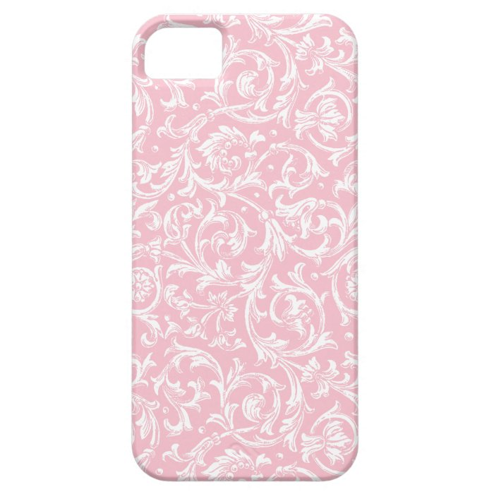 Antique Pink and White Wallpaper iPhone SE/5/5s Case