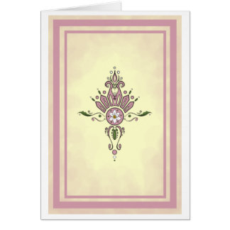 Antique Pink Curly Cue Card