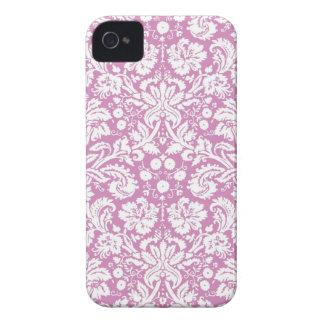 Antique pink damask pattern iPhone 4 Case-Mate case