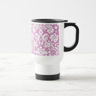 Antique pink damask pattern coffee mug
