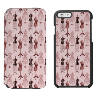 Antique Pink Dress Forms iPhone 6/6s Wallet Case
