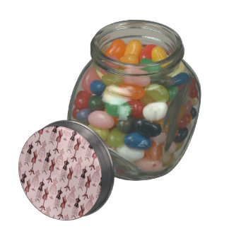 Antique Pink Dress Forms Jelly Belly Candy Jars