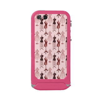 Antique Pink Dress Forms Waterproof Case For iPhone SE/5/5s