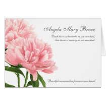 Antique Pink Peony Sympathy Thank You Card