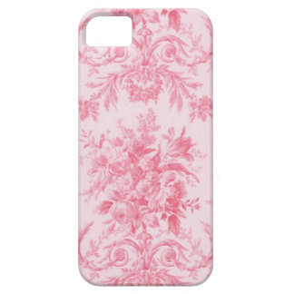 Antique Pink Rose and White Toile iPhone SE/5/5s Case