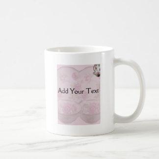 Antique Pink Rose Tea Cup on Mauve