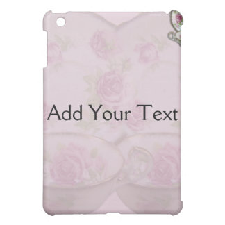 Antique Pink Rose Tea Cup on Mauve iPad Mini Covers
