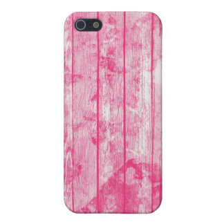 Antique Pink Watercolor Wood Cover For iPhone SE/5/5s