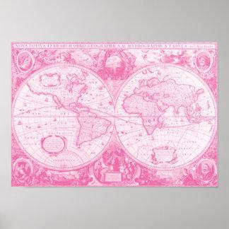 Antique Pink World Poster