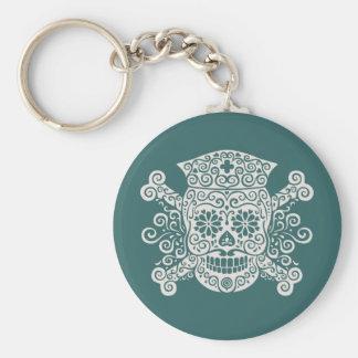 Antique Pirate Nurse Basic Round Button Keychain