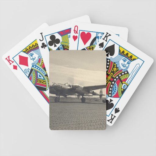 Zazzle antique plane Bicycle Playing Cards