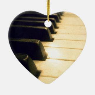 Antique Player Piano Keys Ceramic Ornament