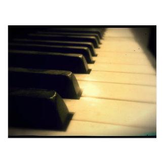 Antique Player Piano Keys Postcard