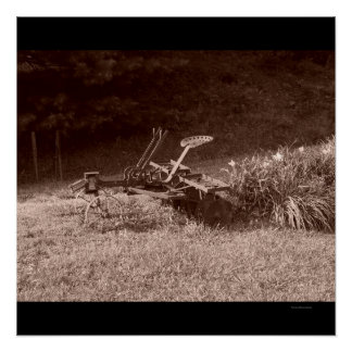 Antique Plow, in Sepia Poster