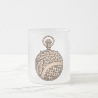 Antique Pocket Watch Horology Steampunk Frosted Glass Coffee Mug
