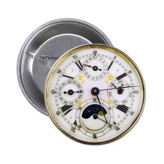 Antique Pocket Watch Pinback Button