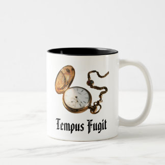 Antique Pocket Watch Tempus Fugit Mug