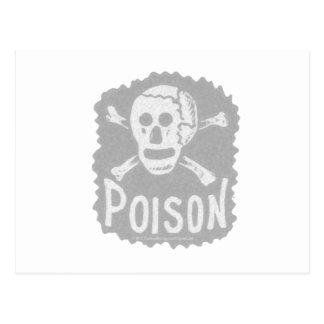 Antique Poison Label Transparency Postcard