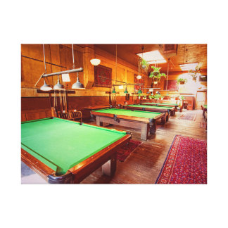 Antique Pool Tables Gallery Wrap Canvas