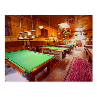 Antique Pool Tables Post Card