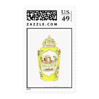 Antique Porcelain Jar Stamp -
