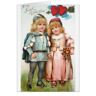 Antique Post Card Valentines Day Sweet Hearts