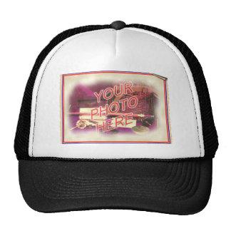 Antique Poster Template Frame Trucker Hat