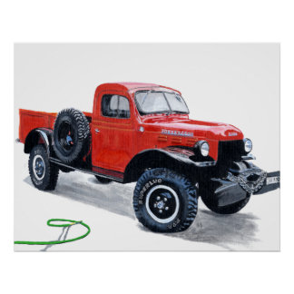 Antique Power Wagon Truck Print