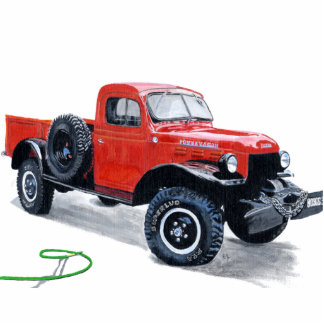 Antique Power Wagon Truck Sculpture Standing Photo Sculpture