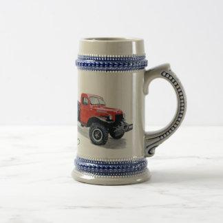 Antique Power Wagon Truck Stein 18 Oz Beer Stein