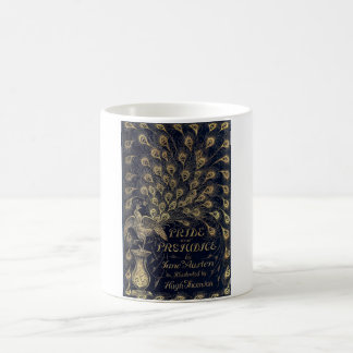 Antique Pride and Prejudice Peacock Edition Cover Coffee Mug