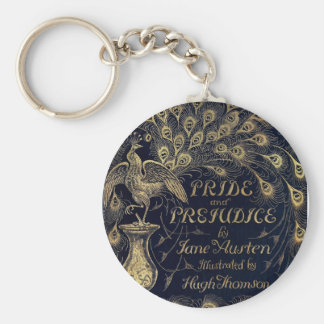 Antique Pride and Prejudice Peacock Edition Cover Keychain