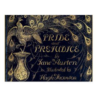 Antique Pride and Prejudice Peacock Edition Cover Postcard
