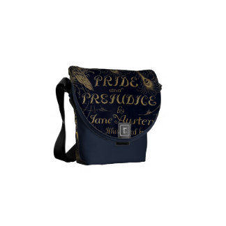 Antique Pride and Prejudice Peacock Edition Messenger Bag