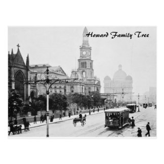 Antique print George St Sydney Australia c1898 Post Card
