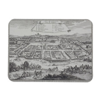 Antique Print of Congo Rectangle Magnets