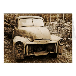 Antique Project Truck Old Photo Style Card